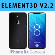 E3D-Apple iPhone 8 Plus Concept 3D模型 3d model