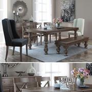 Kenmerkend ontwerp door Ashley Gerlane Casual Dining Room Group 3d model