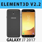 E3D - Samsung Galaxy J7 Official 2017 Black model 3d model
