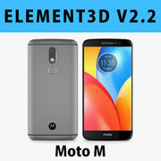 E3D - Modello Motorola Moto M grigio 3d model