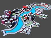 city river 3d model