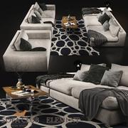 Sofa Club Element VAR ışığı 3d model