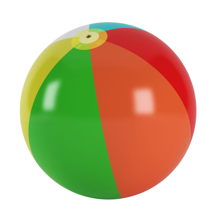 inflatable beach ball royalty-free 3d model - Preview no. 3