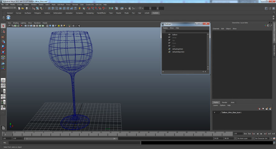 Воздушный шар бокал для вина royalty-free 3d model - Preview no. 20
