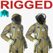Strizh Space Suit Rigged para Maya 3d model