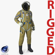 Strizh Space Suit Rigged para Cinema 4D 3d model