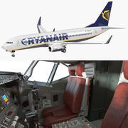 Boeing 737-800 com Interior Ryanair 3d model