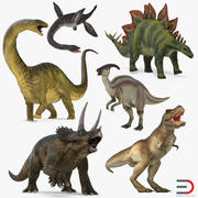 Rigged Dinosaurs Collection 3d model