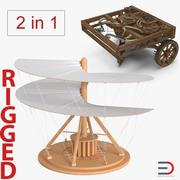 Leonardo da Vinci Rigged Vehicles 컬렉션 3d model