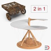 Leonardo da Vinci Vehicles Collection 3d model