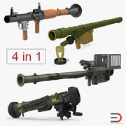 Rocket Launchers 3D-modellencollectie 3d model