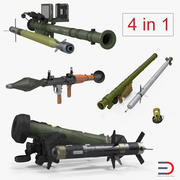 Rocket Launchers with Rockets Collection 3d model