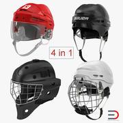 Hockey Helmets 3D Models Collection 3d model