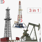 Oil Production Equipment Collection 3d model