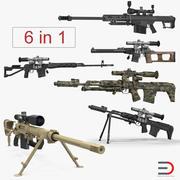 Снайперские винтовки, коллекция 3D-моделей 2 3d model