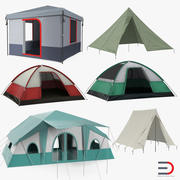 Camping Tents 3D Models Collection 3d model