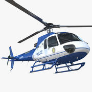 Helikopter policyjny Eurocopter AS-350 3d model