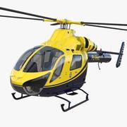 Police Helicopter MD 902 Explorer 3D Model 3d model