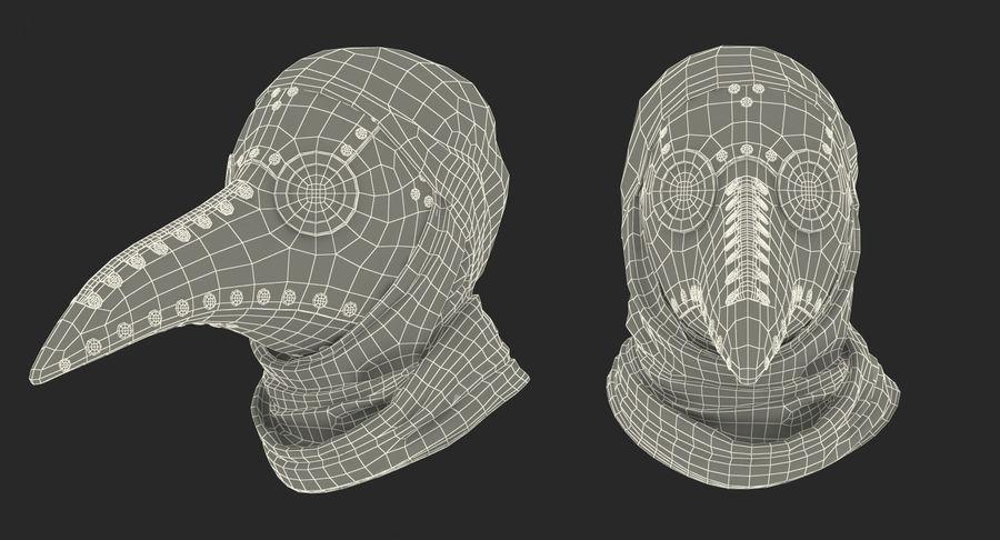 瘟疫医生服装3D模型 royalty-free 3d model - Preview no. 34