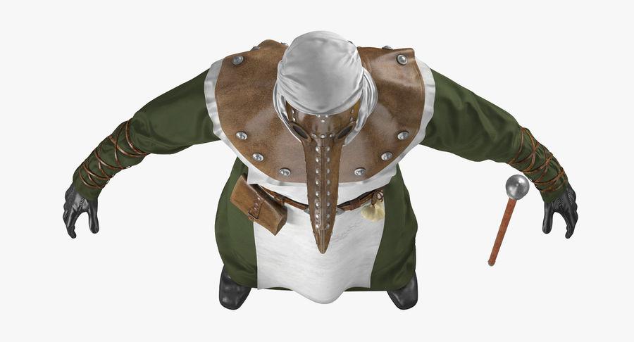 瘟疫医生服装3D模型 royalty-free 3d model - Preview no. 12