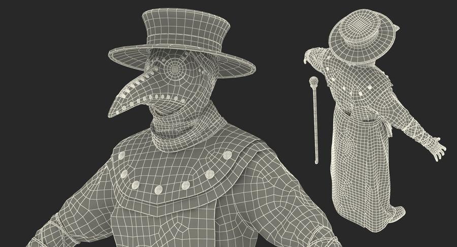 瘟疫医生服装3D模型 royalty-free 3d model - Preview no. 30