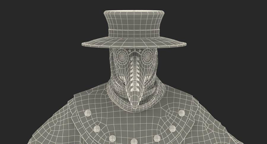 瘟疫医生服装3D模型 royalty-free 3d model - Preview no. 29