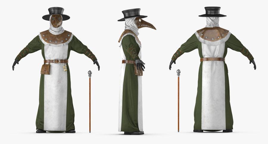 瘟疫医生服装3D模型 royalty-free 3d model - Preview no. 3