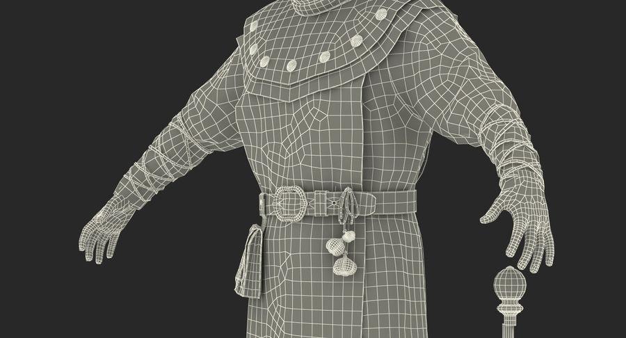 瘟疫医生服装3D模型 royalty-free 3d model - Preview no. 31