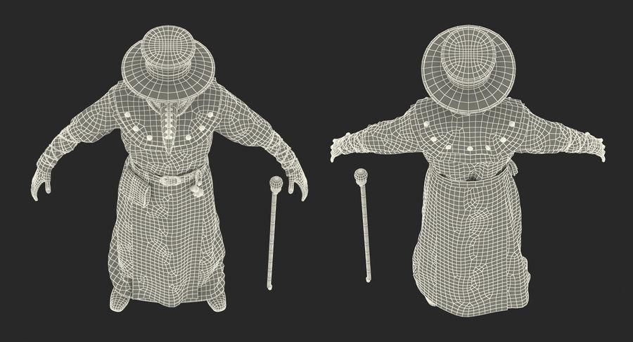 瘟疫医生服装3D模型 royalty-free 3d model - Preview no. 27