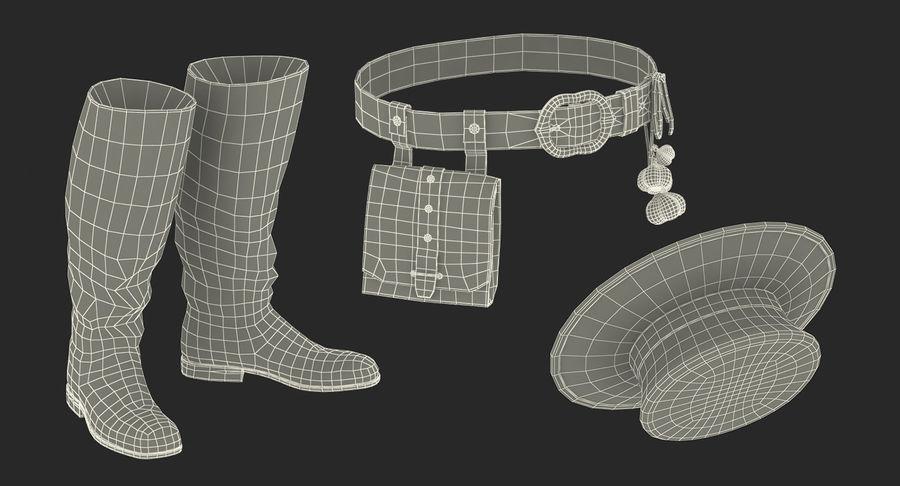 瘟疫医生服装3D模型 royalty-free 3d model - Preview no. 32