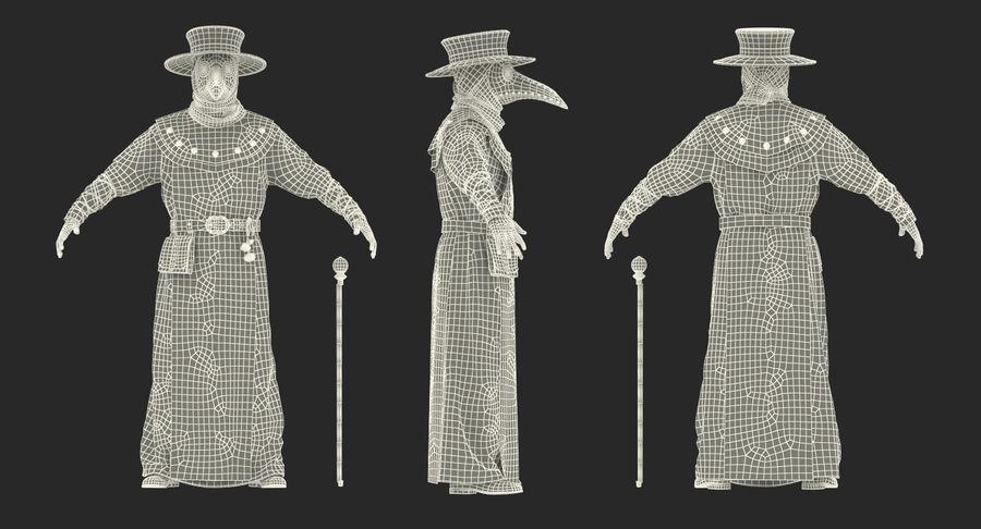 瘟疫医生服装3D模型 royalty-free 3d model - Preview no. 26