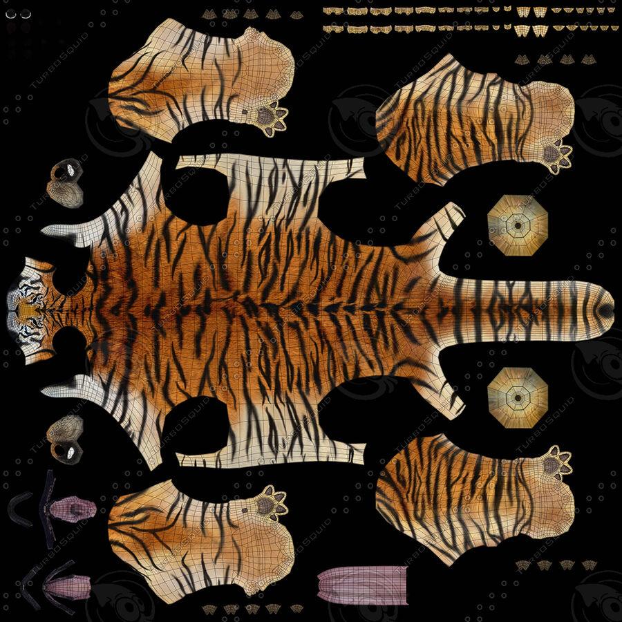 Tigre (pele) royalty-free 3d model - Preview no. 17