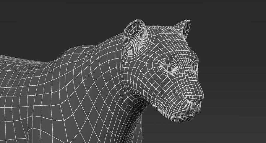 Tigre (pele) royalty-free 3d model - Preview no. 13
