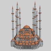 Mesquita Otomana Fantasia 3d model