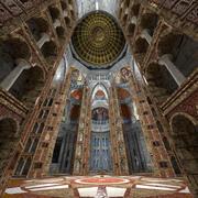 비잔틴 성당 (외관 및 내부) 3d model