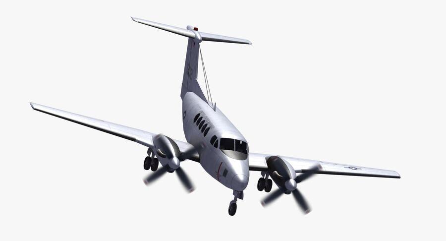 Beechcraft C12休伦 royalty-free 3d model - Preview no. 24