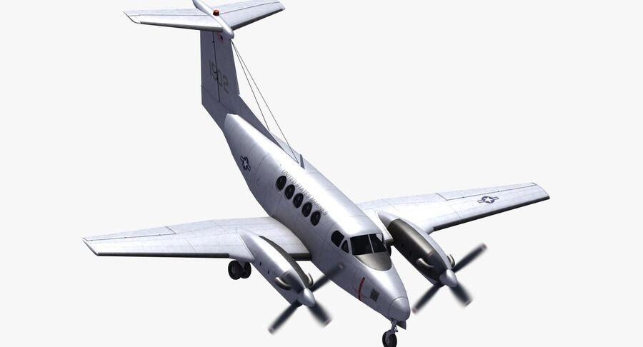 Beechcraft C12休伦 royalty-free 3d model - Preview no. 20