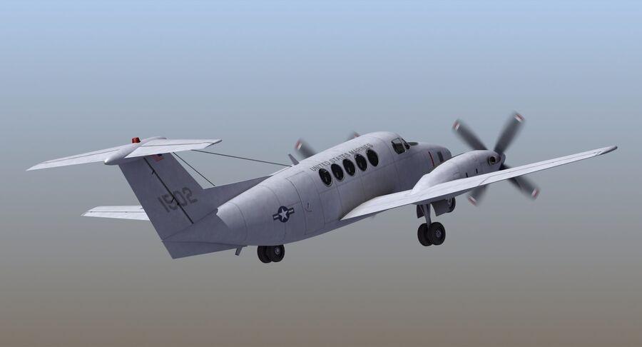 Beechcraft C12休伦 royalty-free 3d model - Preview no. 5