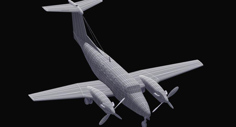 Beechcraft C12休伦 royalty-free 3d model - Preview no. 32