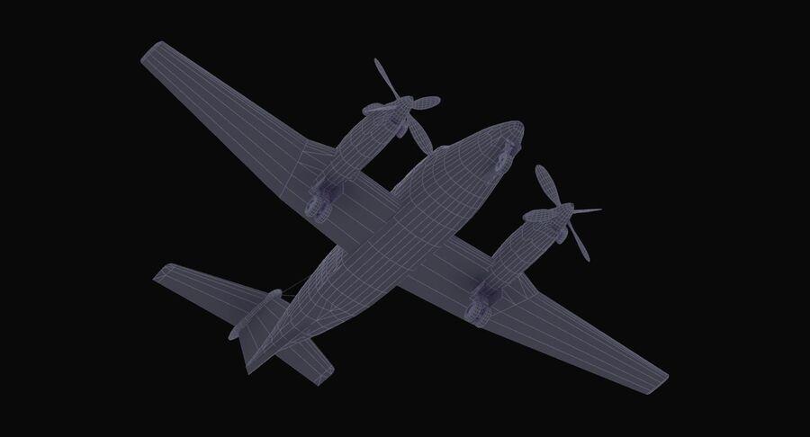 Beechcraft C12休伦 royalty-free 3d model - Preview no. 34