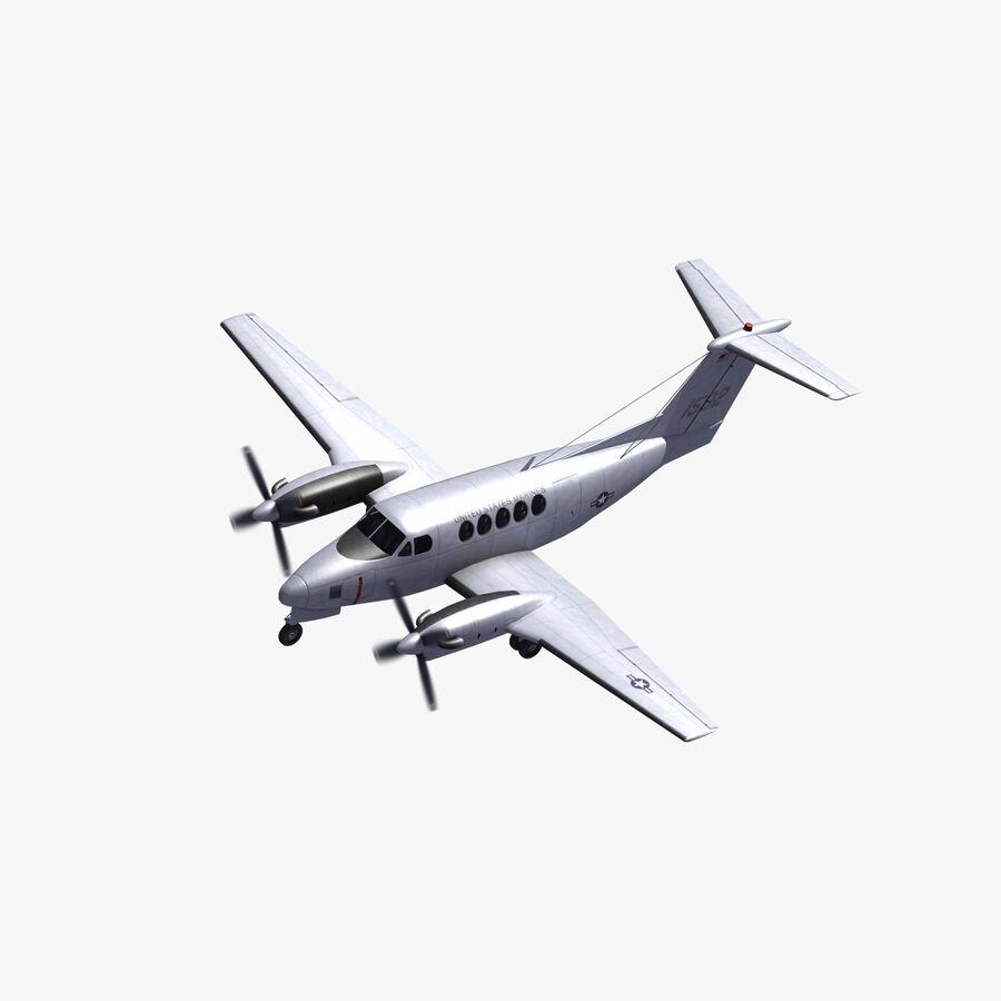 Beechcraft C12休伦 royalty-free 3d model - Preview no. 1