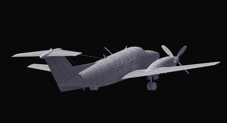 Beechcraft C12休伦 royalty-free 3d model - Preview no. 29