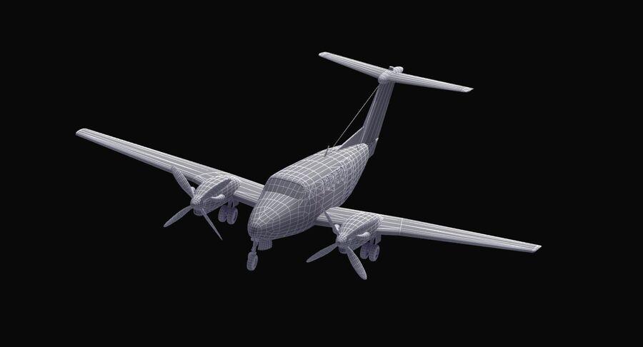 Beechcraft C12休伦 royalty-free 3d model - Preview no. 30