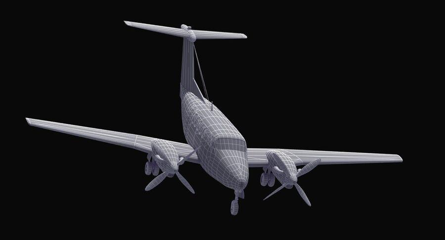 Beechcraft C12休伦 royalty-free 3d model - Preview no. 37