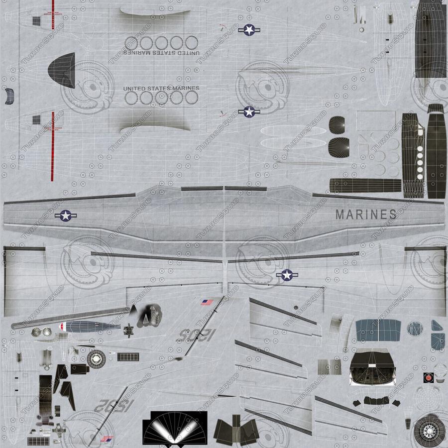 Beechcraft C12休伦 royalty-free 3d model - Preview no. 36