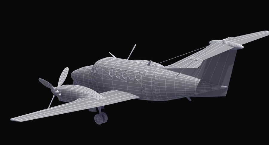 Beechcraft C12休伦 royalty-free 3d model - Preview no. 40