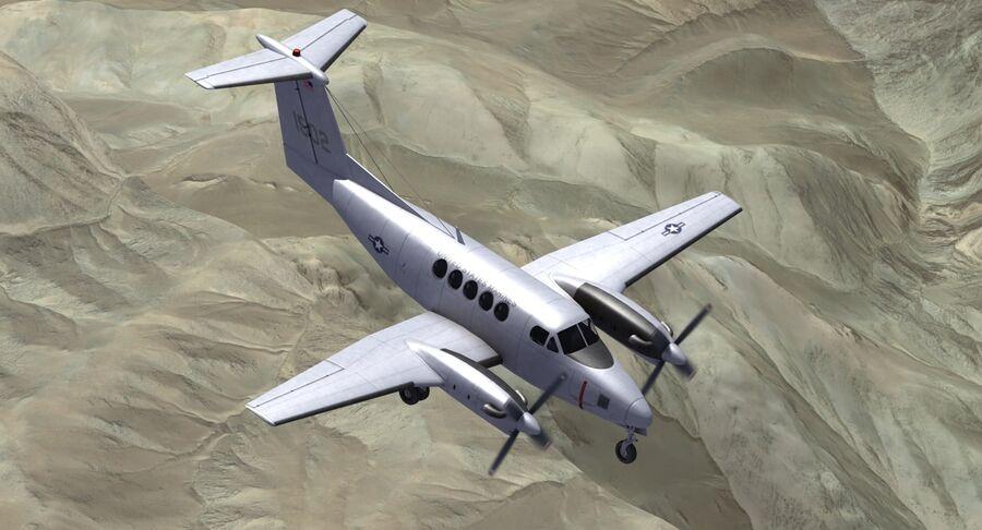 Beechcraft C12休伦 royalty-free 3d model - Preview no. 13