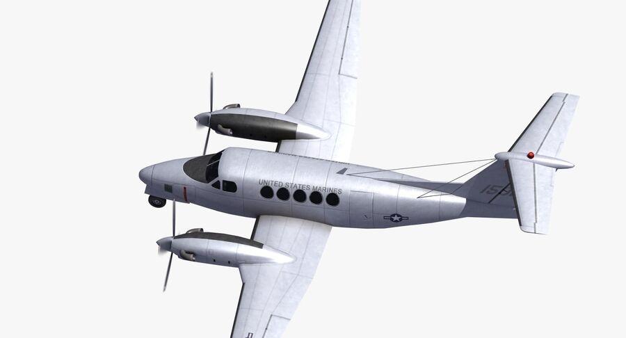 Beechcraft C12休伦 royalty-free 3d model - Preview no. 21