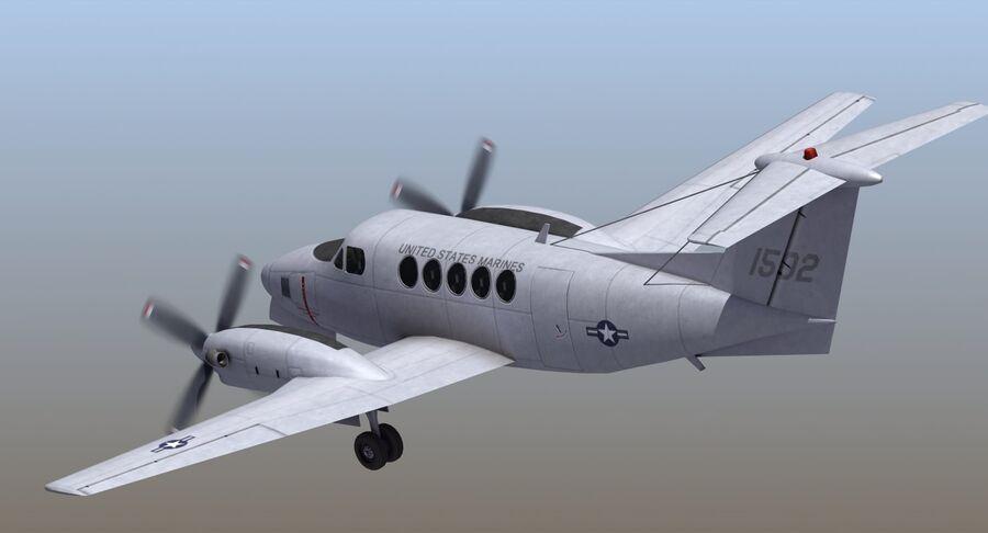 Beechcraft C12休伦 royalty-free 3d model - Preview no. 15