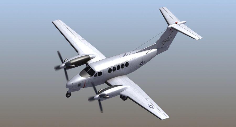Beechcraft C12休伦 royalty-free 3d model - Preview no. 3